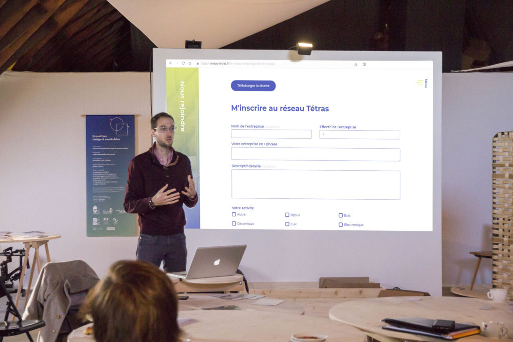 Thibaut Schell présente le Réseau Tétras, une plateforme à destination des savoir-faire des Vosges du Nord.